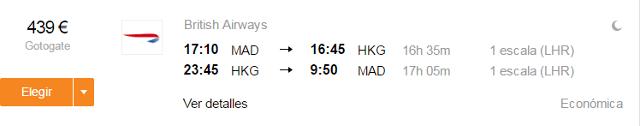 vuelos madrid hong kong