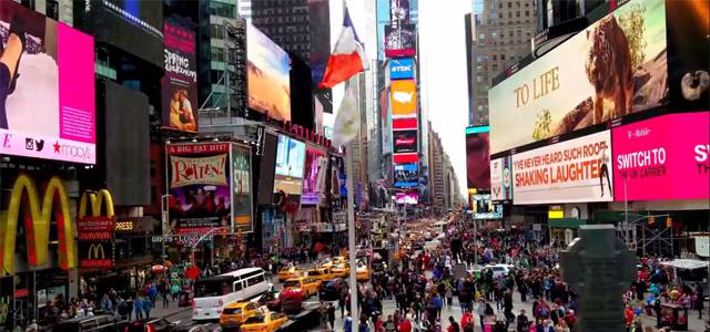 Nueva York: Time Square en 2016