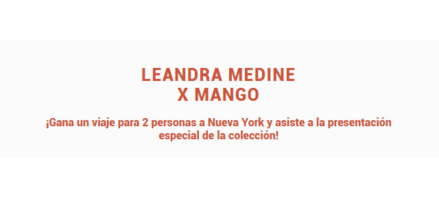 Nueva York sorteo Mango